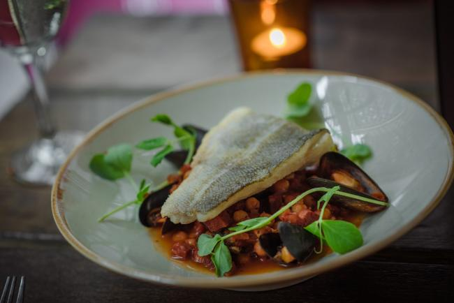 Recipe of the Day: Baked cod, chorizo and mussel stew and garlic toast