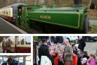 All aboard the Royal express as Charles takes steam train for a run
