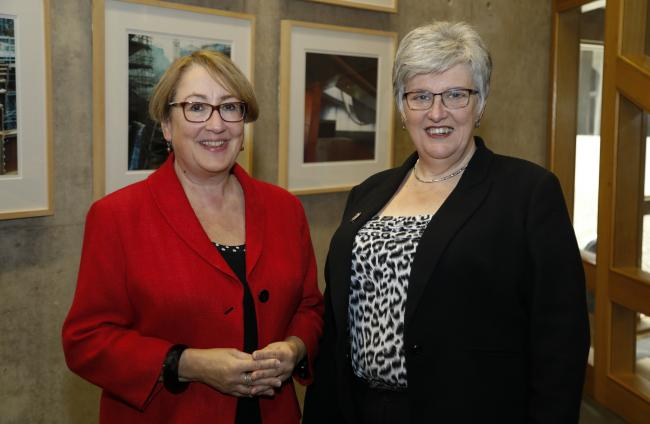 NHS 24 chairman Esther Roberton (right) was asked by Annabelle Ewing MSP (left) to conduct a review into the regulation of legal services in Scotland.