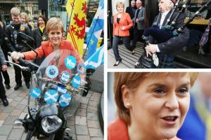 The First Minister arrives to meet SNP candidates and activists in Stirling (Credit: Andrew Milligan/PA Wire)