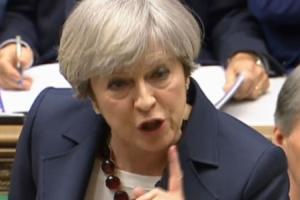 Prime Minister Theresa May speaks during Prime Minister's Questions (PA Wire)