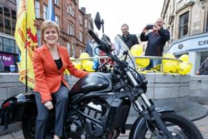 Nicola Sturgeon on the campaign trail in Stirling