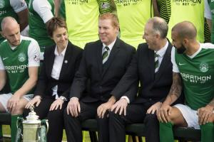 Neil Lennon is unlikely to be going anywhere soon but Leeann Dempster says she is not averse to considering a woman for the Hibs manager's job should he ever leave. Picture: SNS