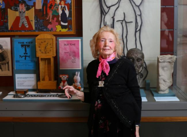 Joyce Laing, Scotland's first art therapist at the new Barlinnie Special Unit display at Kelvingrove pic Colin Mearns
