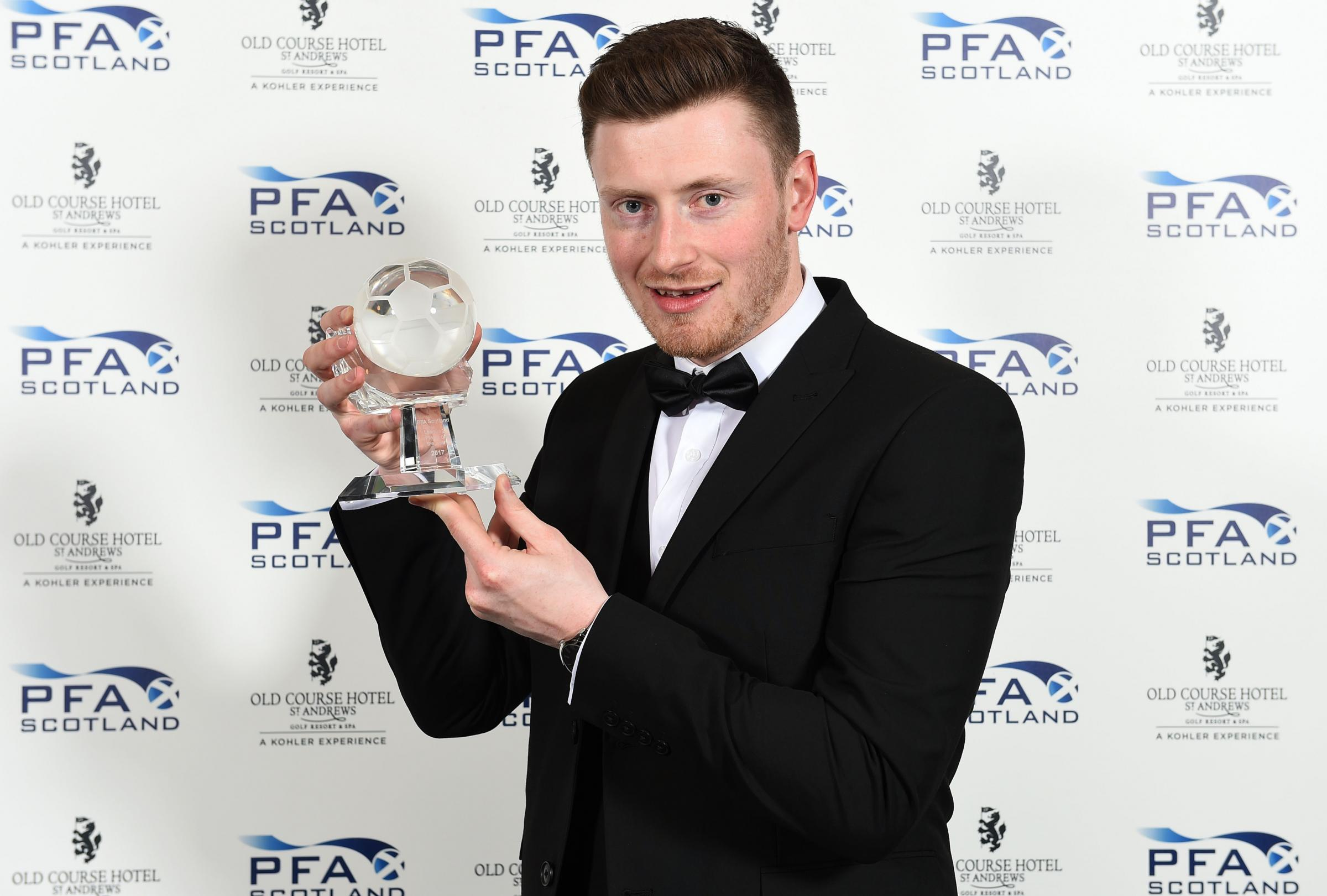 Elgin City's Shane Sutherland wins the Ladbrokes League 2 Player of the Year..