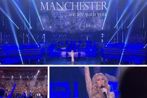 Video: Tearful Céline Dion uses sellout Vegas show to pay emotional tribute to Manchester
