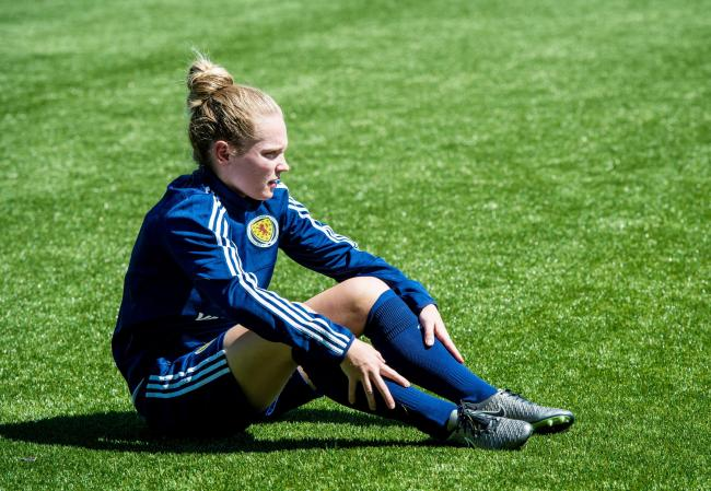 Scotland's Kim Little ruptured her cruciate in training for Arsenal