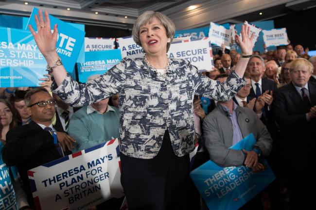 Victory in sight? Polls point to landslide victory for Theresa May as Britain faces starkest Left-Right choice in generation