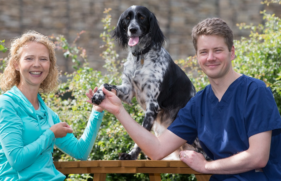 Dog's leg saved through Scots project to help mine blast survivors backed by a World Cup winner