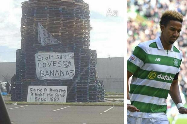 Image result for scott sinclair racist bonfire