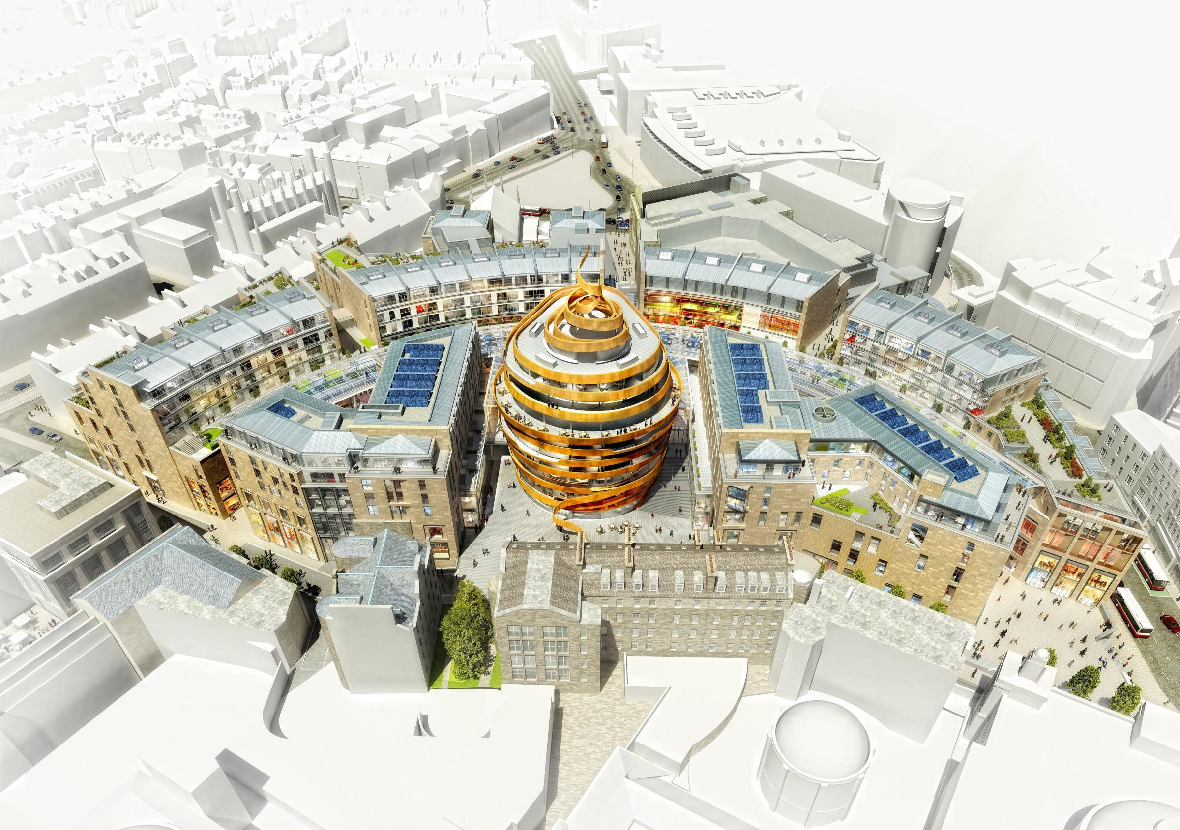 The new St James Centre in Edinburgh, currently under construction, is a prime example of a regeneration development funded in part by international capital