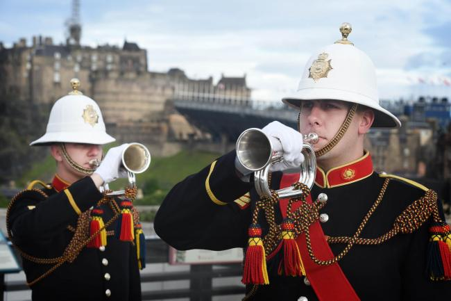 Royal edinburgh military tattoo to see 1200 performers from across buglers from massed bands of her majestys royal marines signal launch of tattoo credit malvernweather Image collections