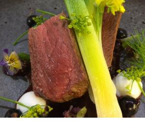 HeraldScotland: Recipe of the Day: Marinated Venison with Blackcurrant 'Jam' and a Scottish goats cheese gel