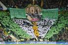 The Green Brigade section at Celtic Park during the UEFA Champions League Play-Off, First Leg match at Celtic Park, Glasgow. PRESS ASSOCIATION Photo. Picture date: Wednesday August 16, 2017. See PA story SOCCER Celtic. Photo credit should read: Jeff Holme