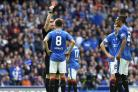 Rangers' Ryan Jack is shown a red card in the game against Hibs last Saturday.