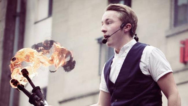 Fire juggling Loganair pilot blazing a trail with Edinburgh Fringe performance