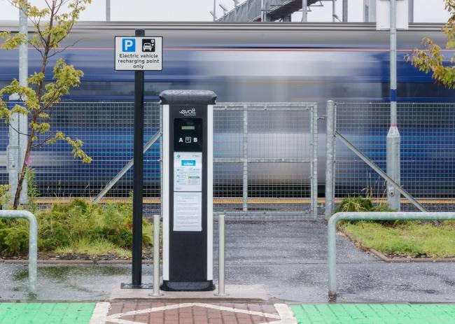 First electric car charging ports installed at four Scottish train stations