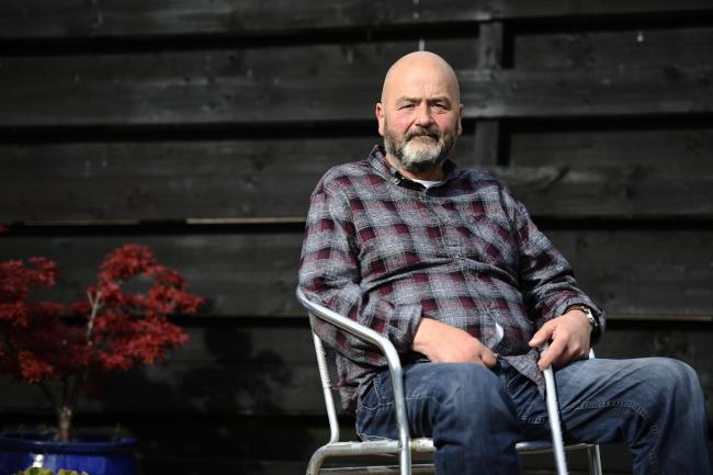 Stroke victim Charlie Ross at his home in Bishopton (Photo by Jamie Simpson/Herald & Times)