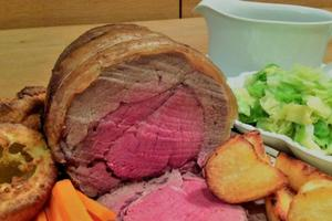 Shirley Spear celebrates British Food Fortnight: Roast beef, Yorkshire pudding and red wine gravy