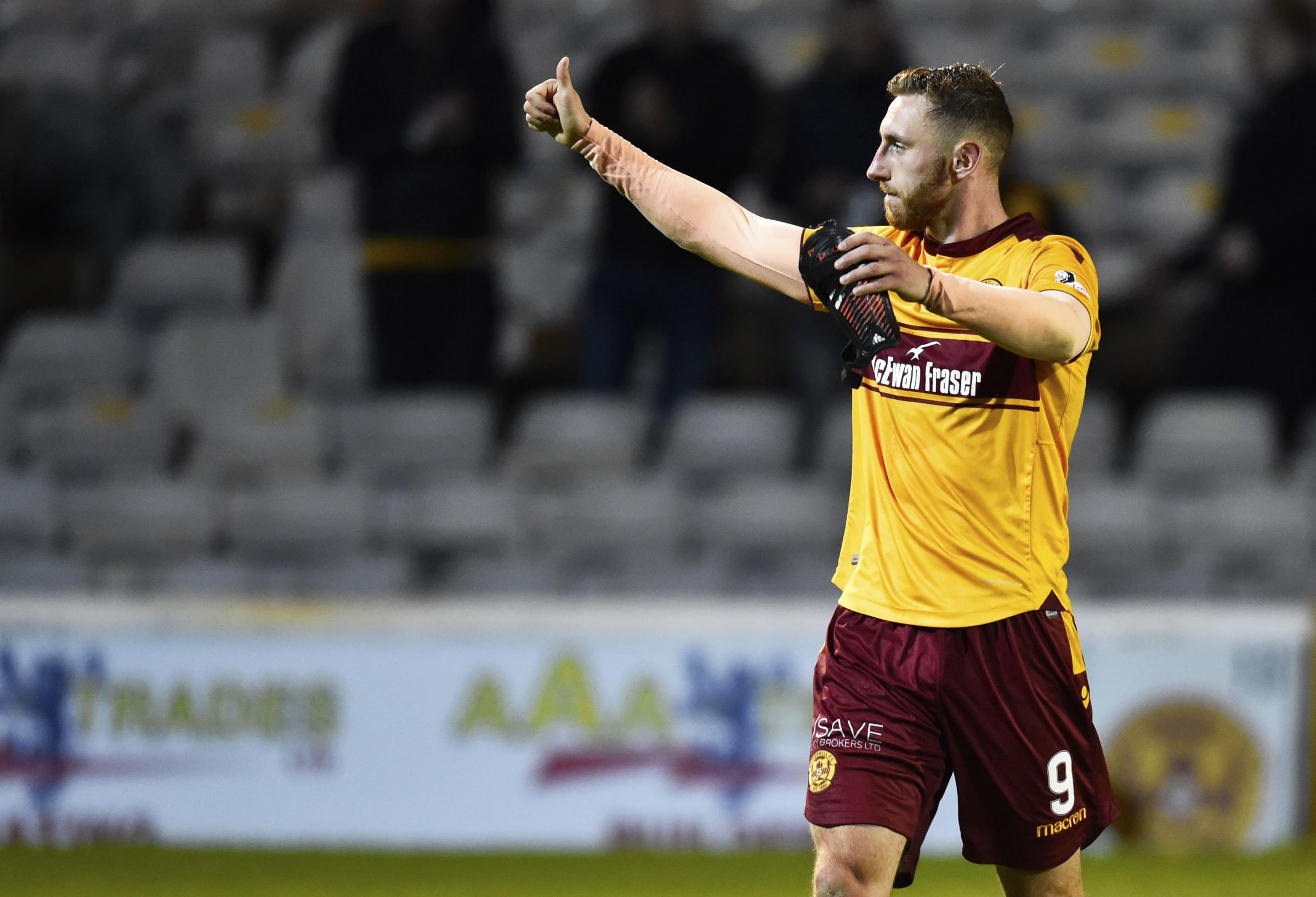 There is no doubting the bond between Louis Moult and the Motherwell supporters.