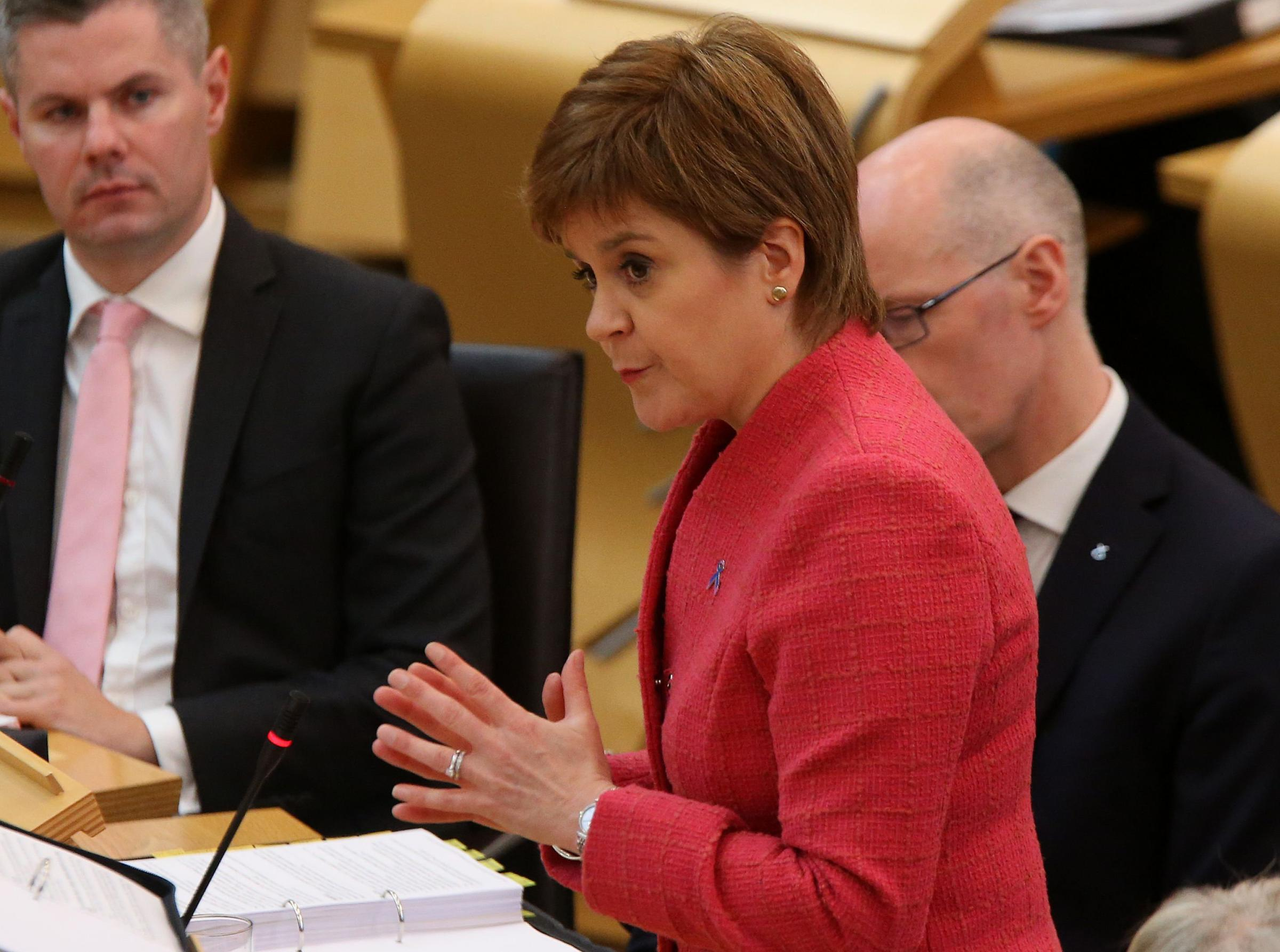 First Minister Nicola Sturgeon  at FMQs thursday.Pic Gordon Terris/The Herald5/10/17