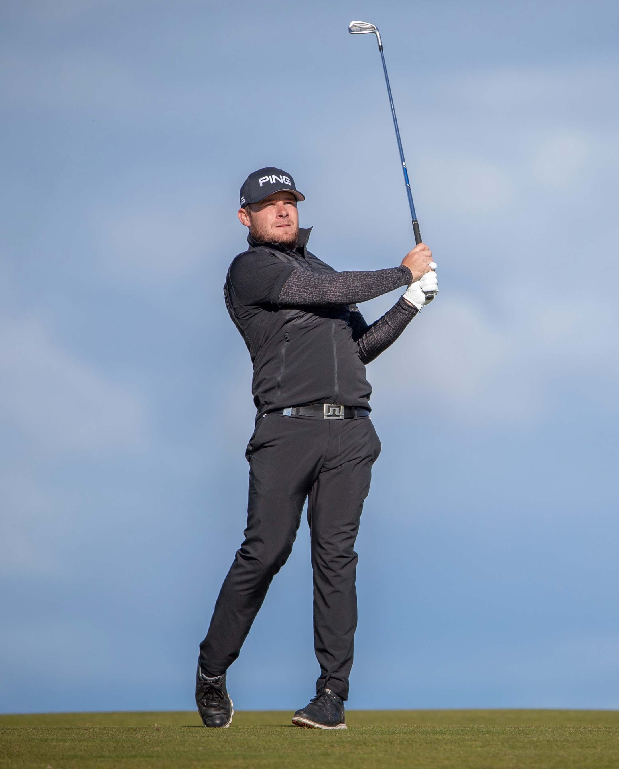 Five star: Tyrrell Hatton holds a five shot lead at the Dunhill Links (Picture: SNS)