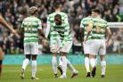 Olivier Ntcham celebrates his goal with Scott Sinclair.