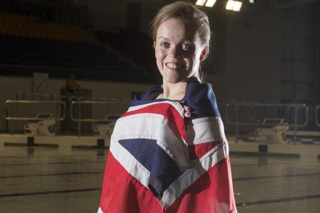 Olympic swimmer Ellie Simmonds on hand to help up and coming World swimming championships.