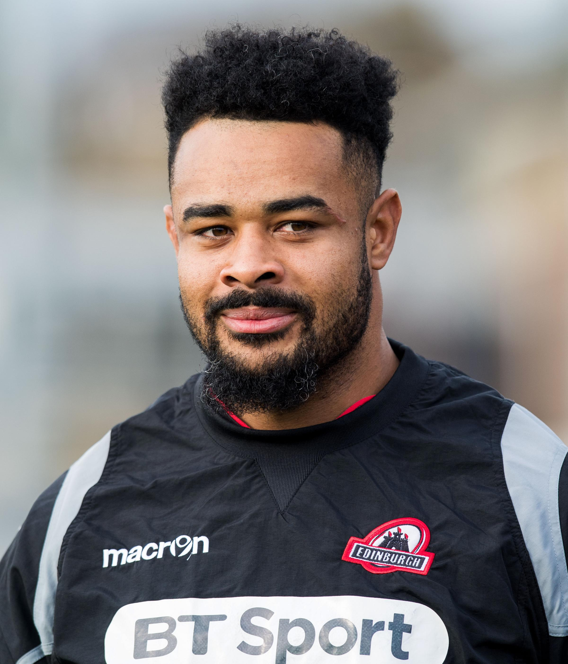17/10/17. EDINBURGH RUGBY TRAINING. BT MURRAYFIELD - EDINBURGH. Edinburgh's Darryl Marfo..