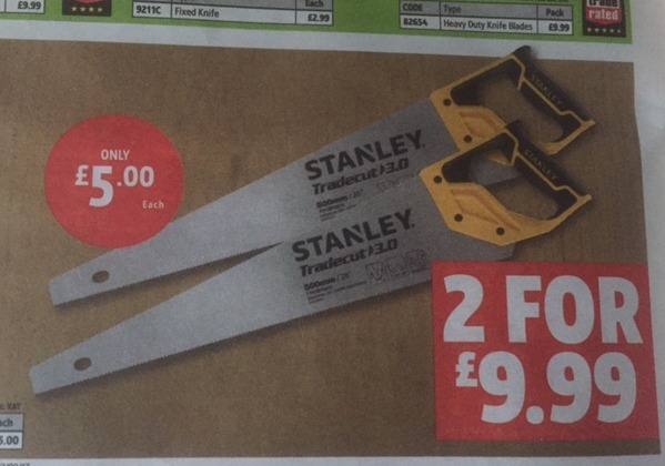 John Robertson spots this week's terrific bargain offered by tool company Screwfix.