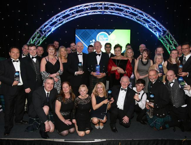 Group winners celebrate their achievements at last year's Herald Scottish Family Business Awards held in Glasgow.