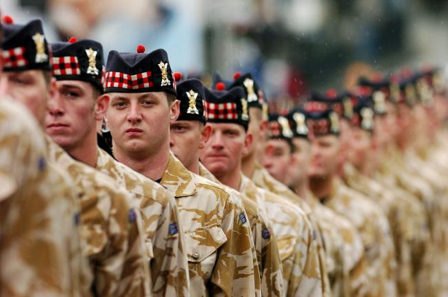 Scottish independence scaring off people from joining regiments north of the border
