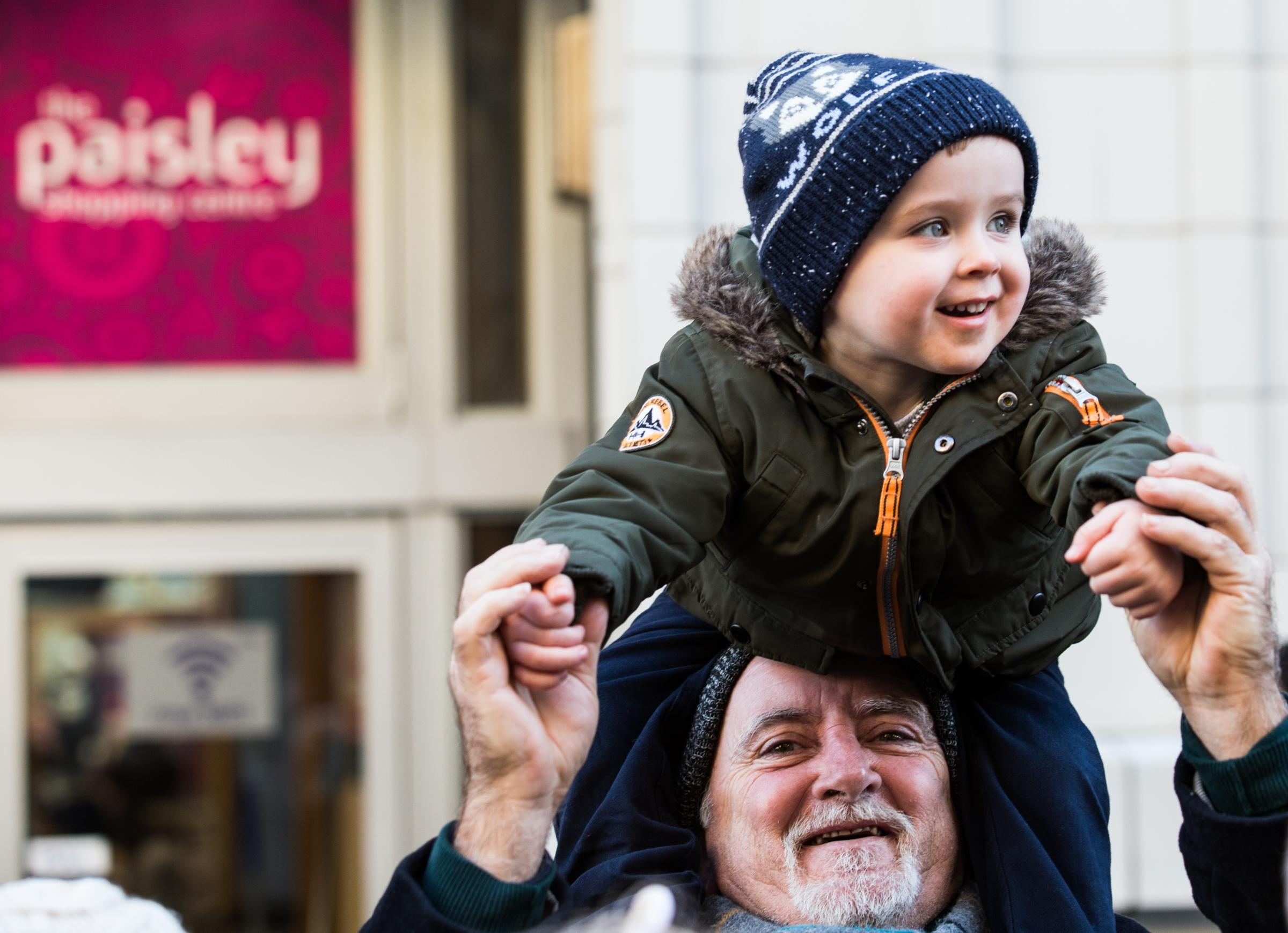 Almost 25,000 people turned out for Paisley's Christmas Lights Switch-on.