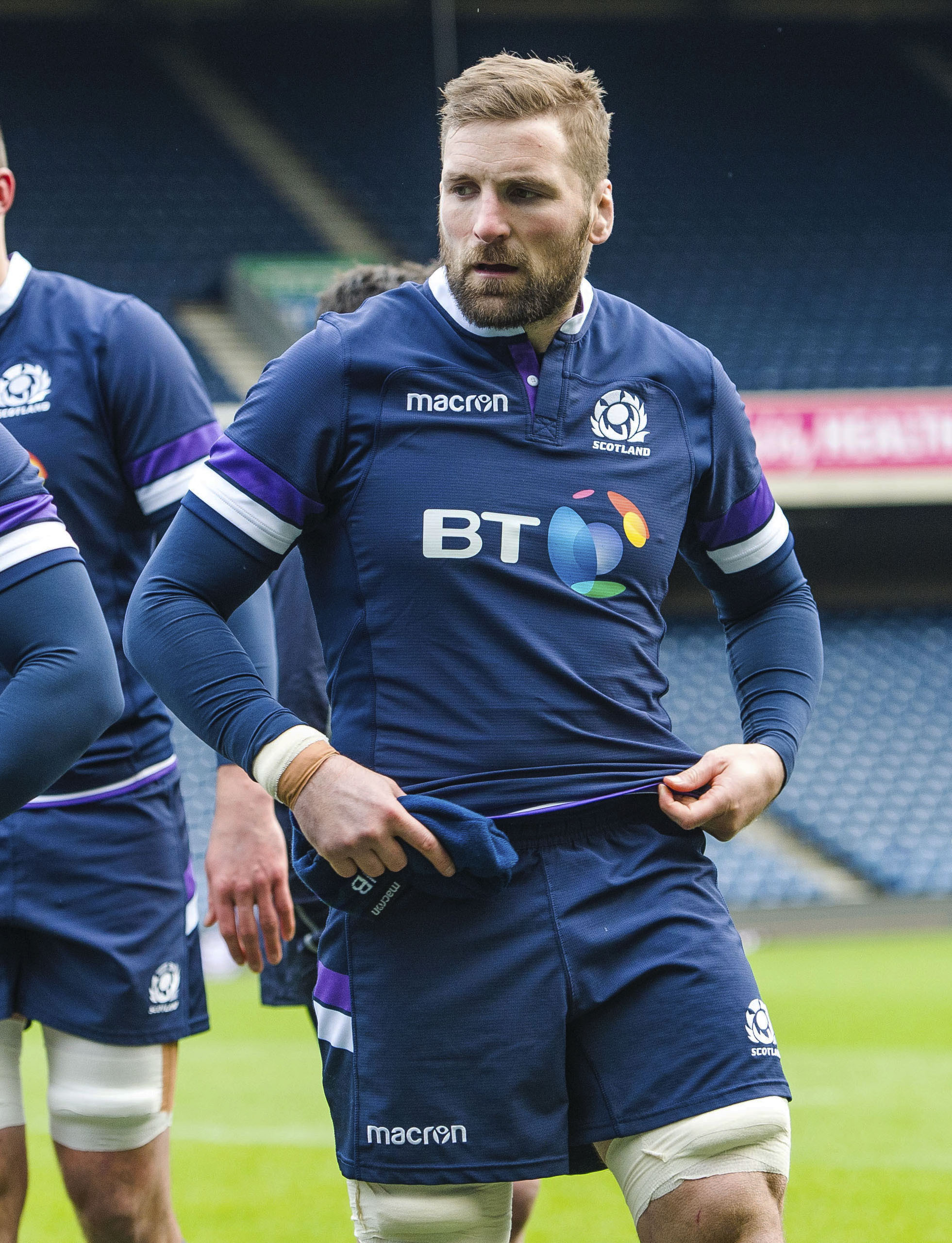 24/11/17. SCOTLAND CAPTAIN'S RUN. BT MURRAYFIELD - EDINBURGH. Scotland captain John Barclay..