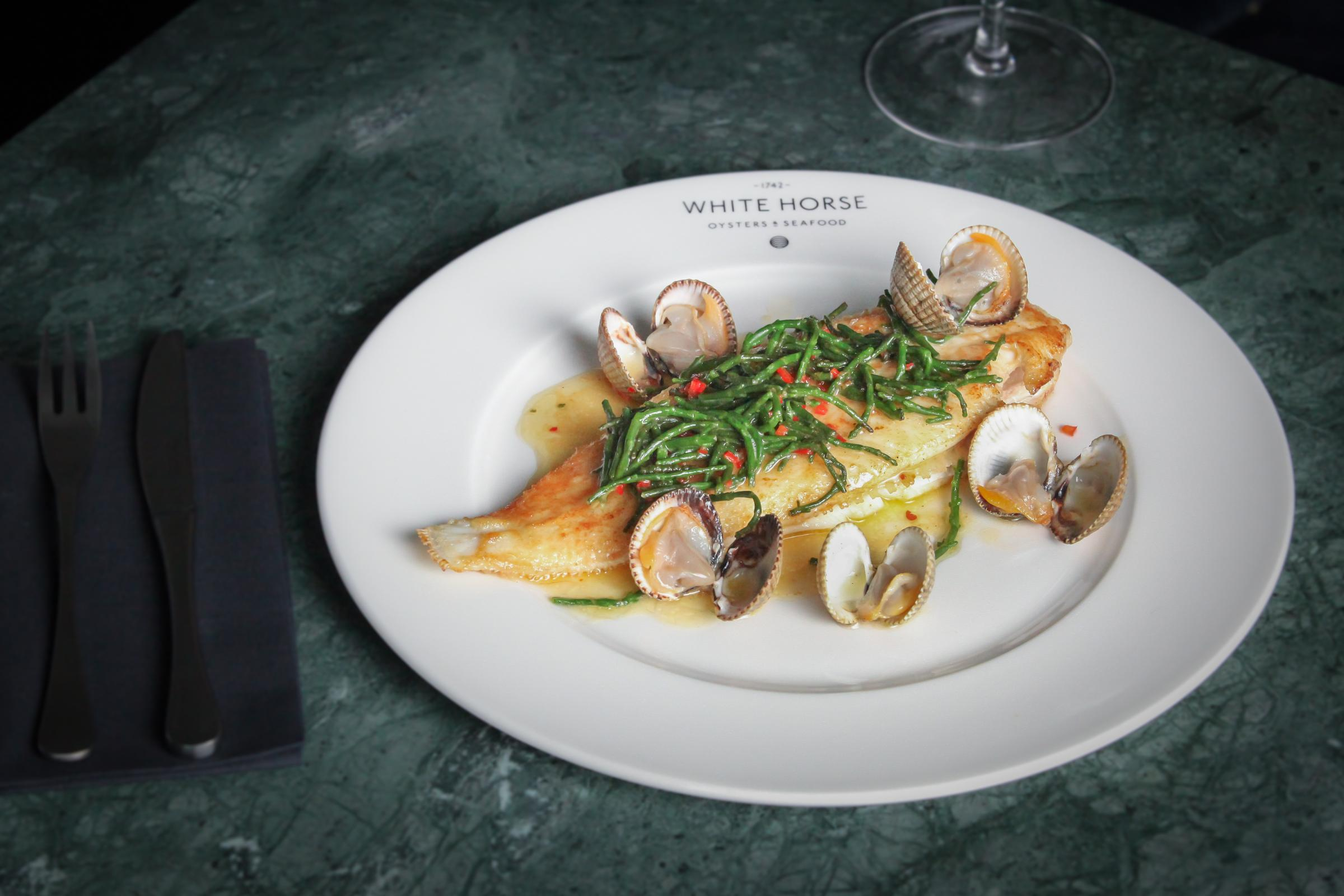 Recipe of the Day: Whole Lemon Sole with Chilli, Samphire and Clams by White Horse Oyster & Seafood Bar in Edinburgh