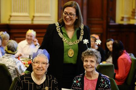HeraldScotland: GLASGOW, SCOTLAND - DECEMBER 07: Glasgow Lord Provost Eva Bolander hosts the annual Glasgow City Council Lord Provost Christmas lunch for senior citizens on December 07, 2017 in Glasgow, Scotland. (Photo by Jamie Simpson/Herald & Times) - JS.