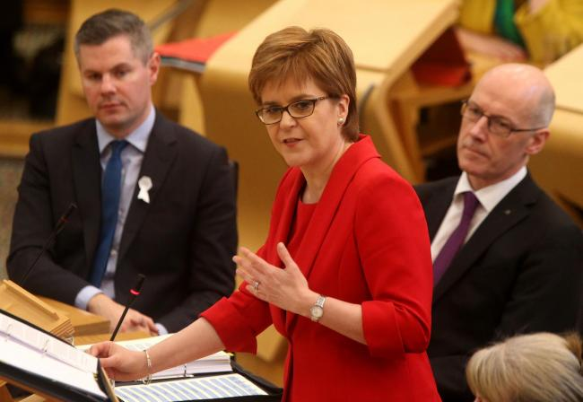 Nicola Sturgeon's central problem remains her own party's Brexiters, who're unlikely to be moved by warnings of catastrophe. Picture: Gordon Terris
