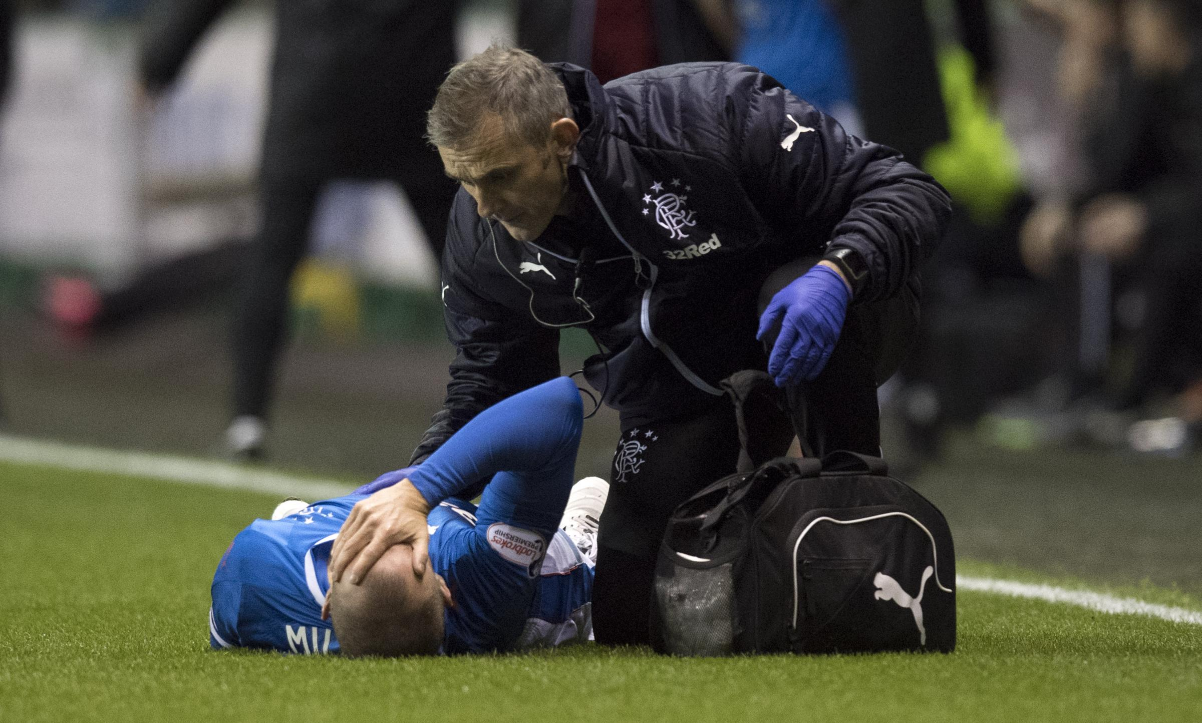 Rangers striker Kenny Miller an injury doubt for Celtic clash
