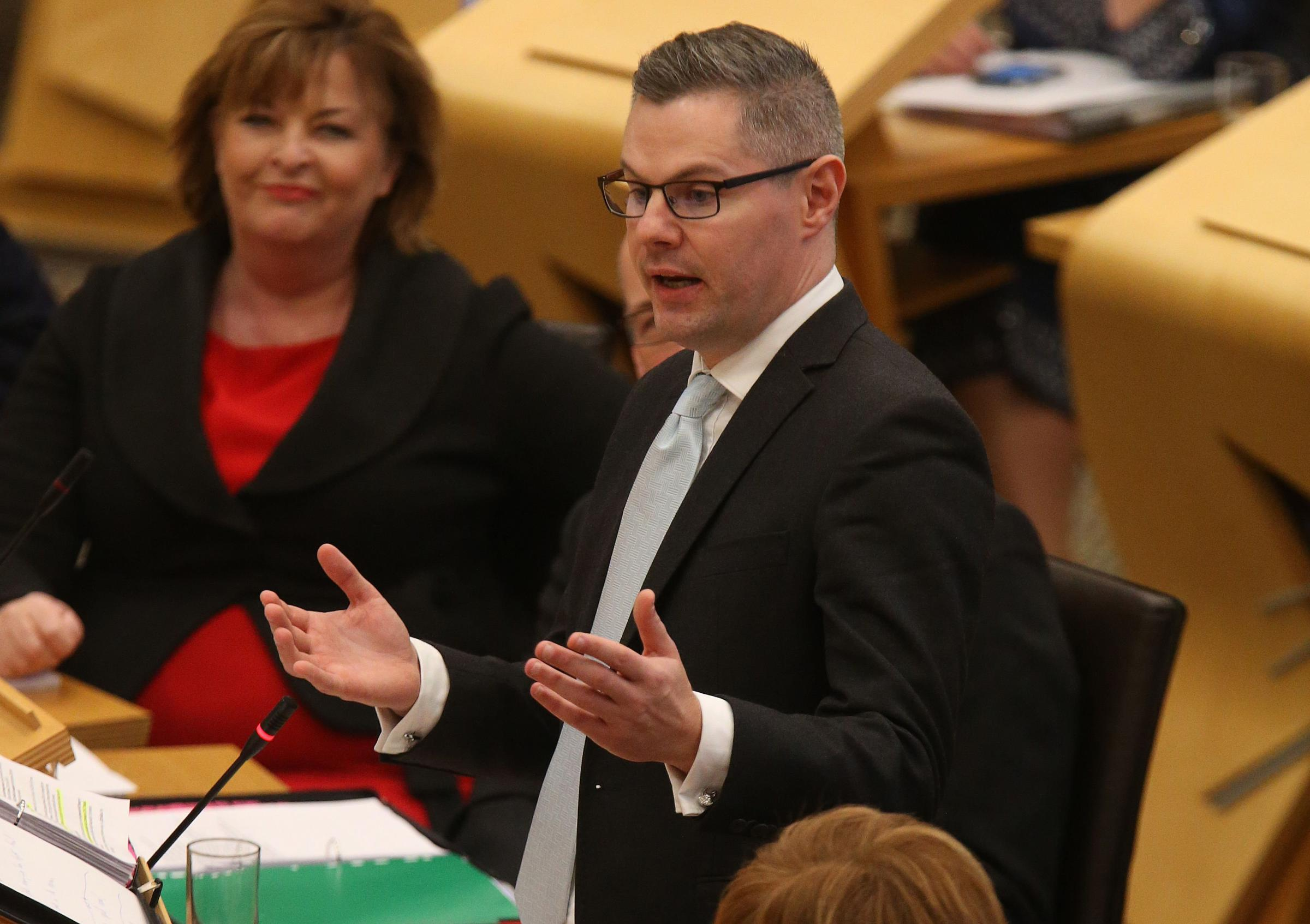 Finance Secretary  Derek Mackay delivering last year's  Budget for Scotland at Holyrood.Pic Gordon Terris/The Herald