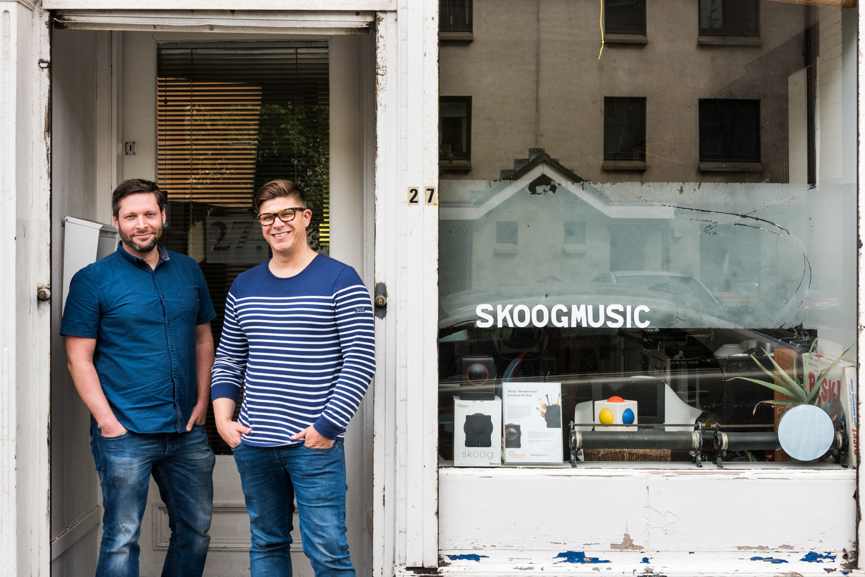 David Skulina and Ben Schogler at the Skoog office in Leith.
