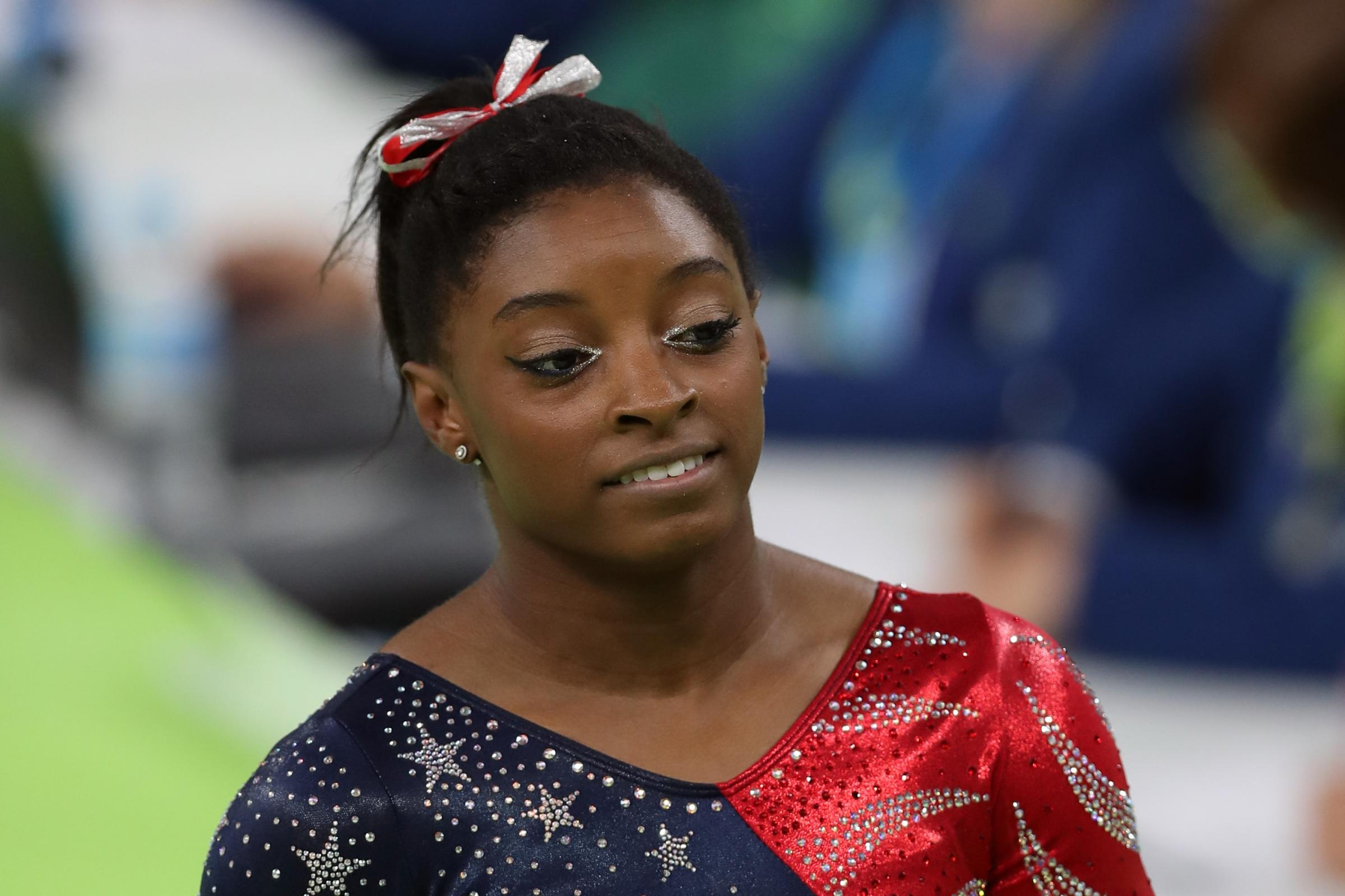 Simone Biles is one of the gymnasts who has accused Larry Nassar of abuse