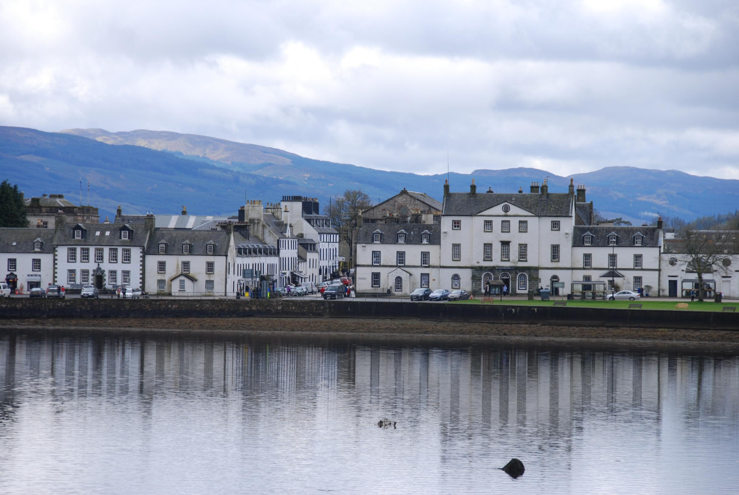 The pretty town of Inveraray was Scotland's first planned town