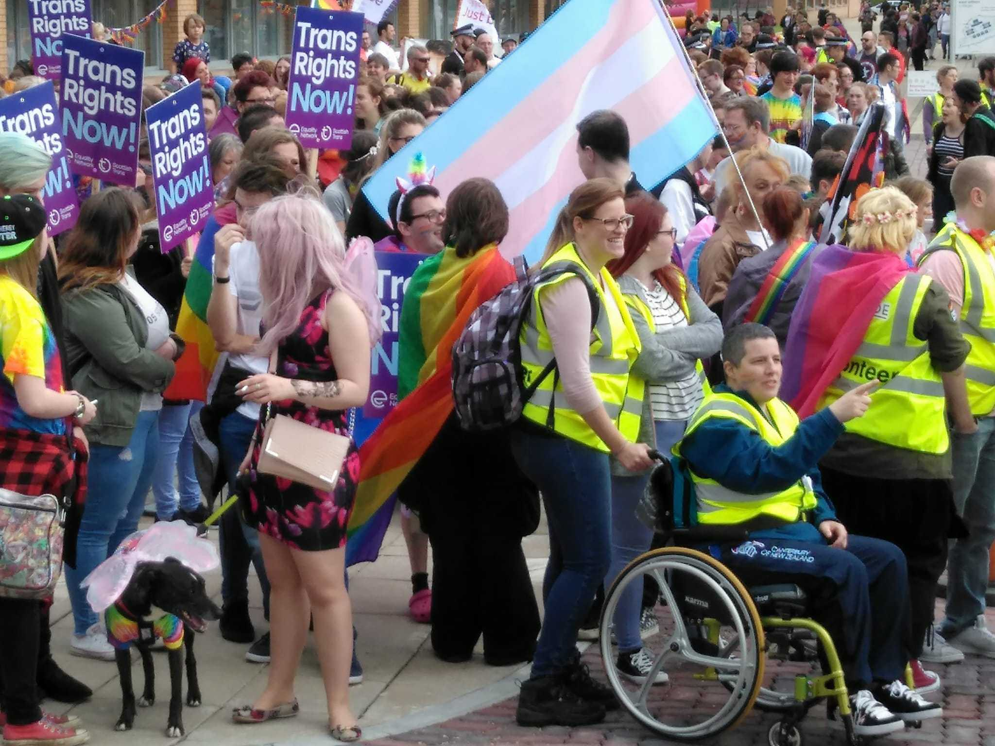 Some of those who attended The Pride Edinburgh rally last year.