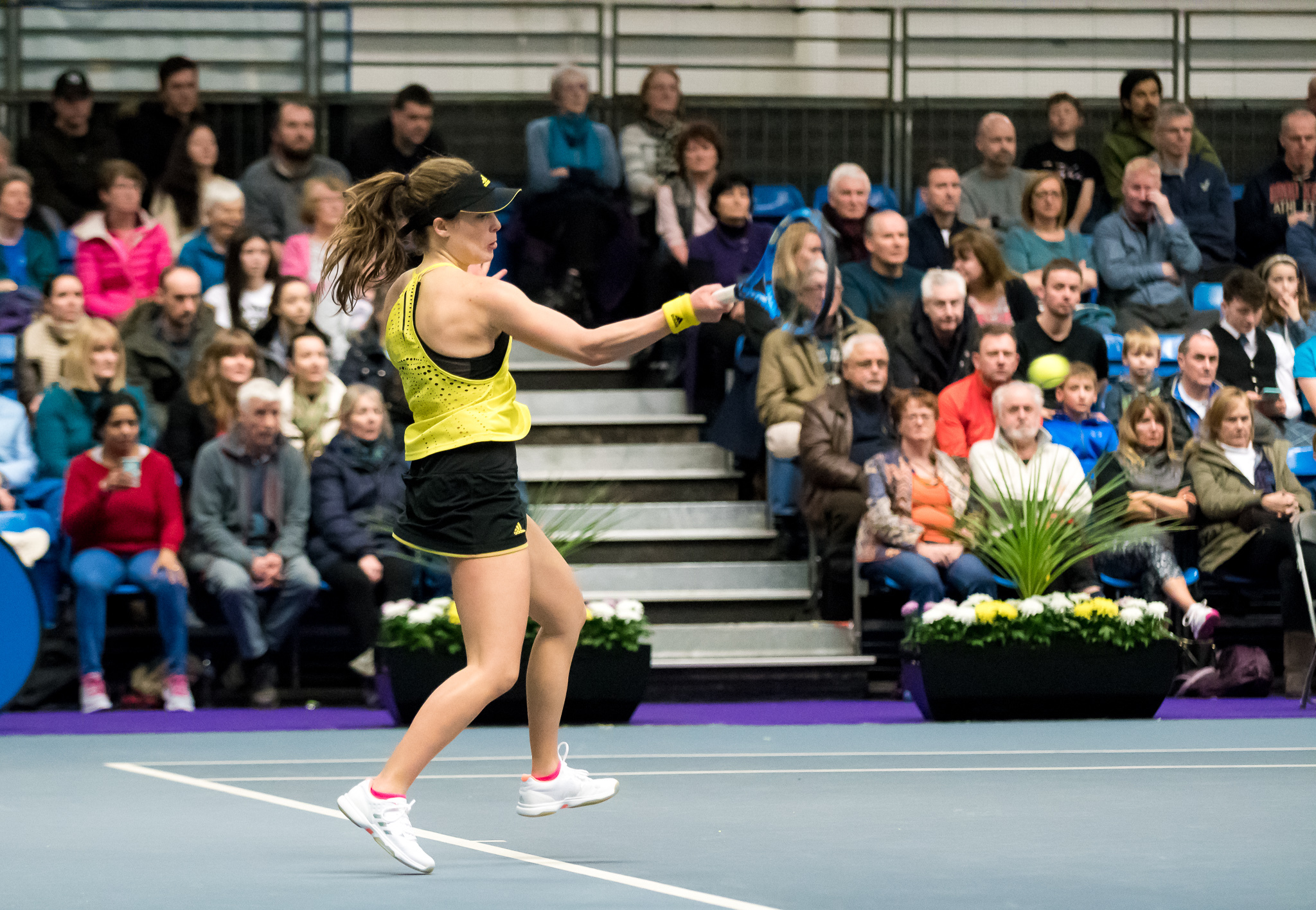 Maia Lumsden in action on finals day at Scotstoun, Picture: Tennis Scotland