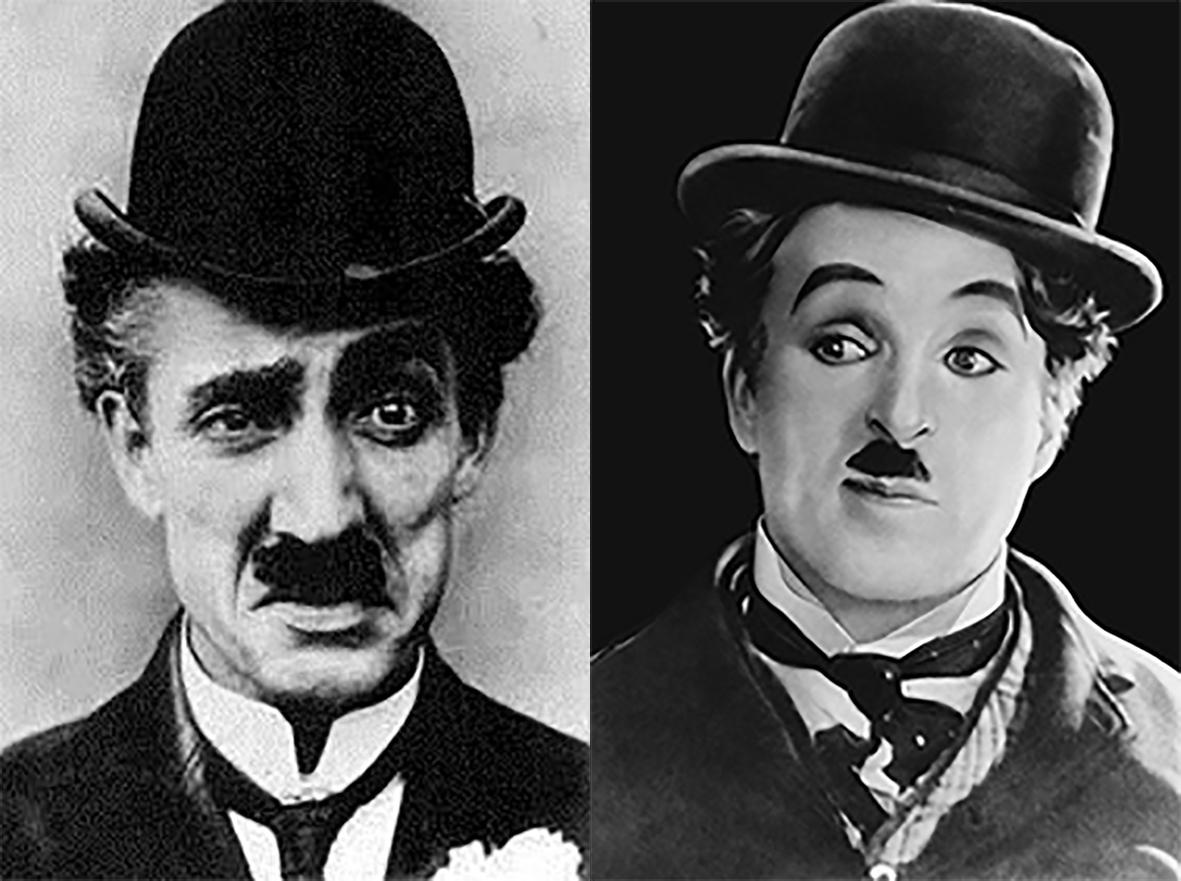 Festival honours Scotland's first major film star. Billie Ritchie left and Charlie  Chaplin right