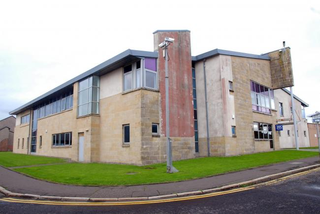 The body of a 50-year-old man was found outside Saltcoats police station