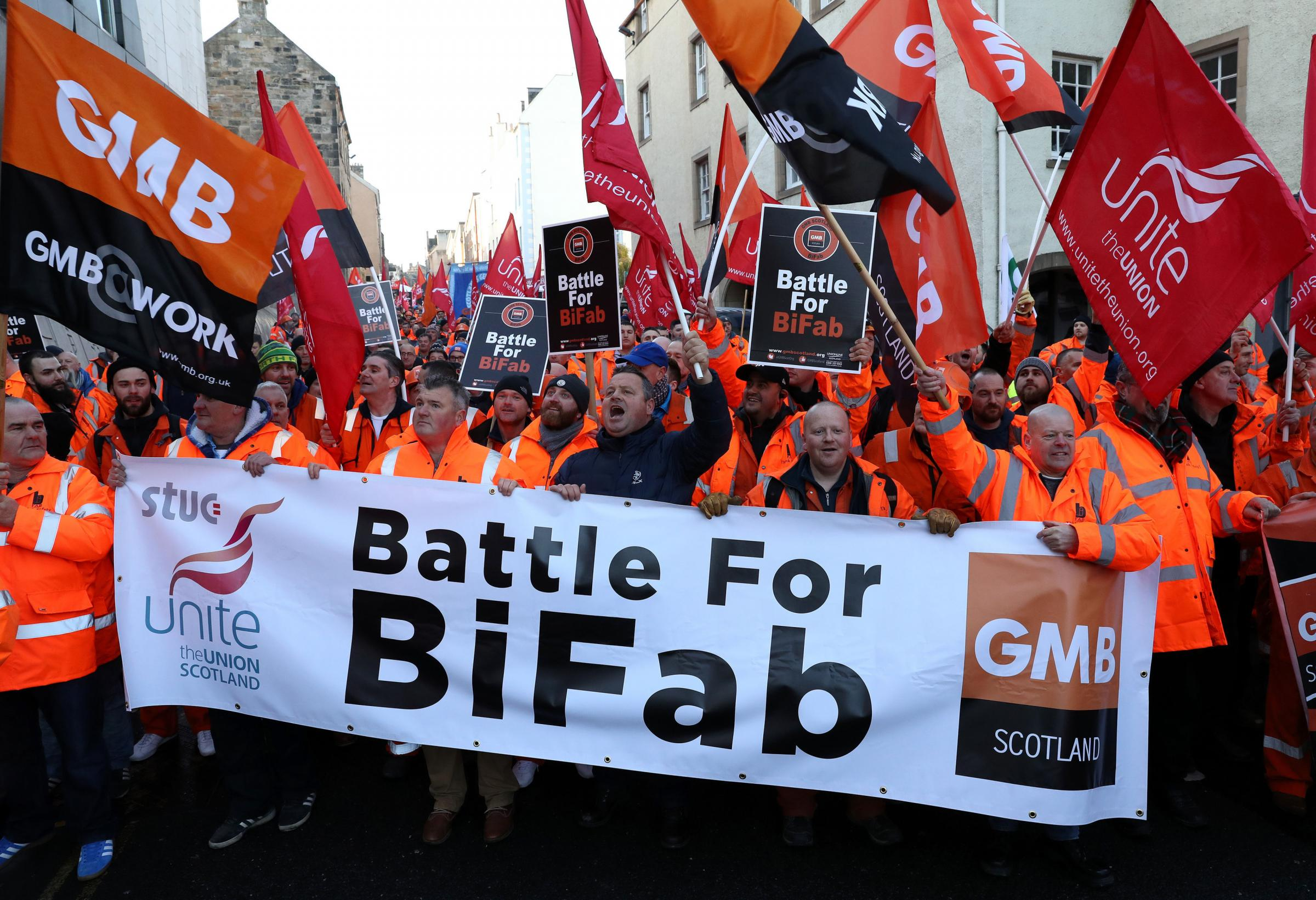 BiFab and German firm EEW have settled their legal dispute out of court. Picture: Andrew Milligan/PA Wire.