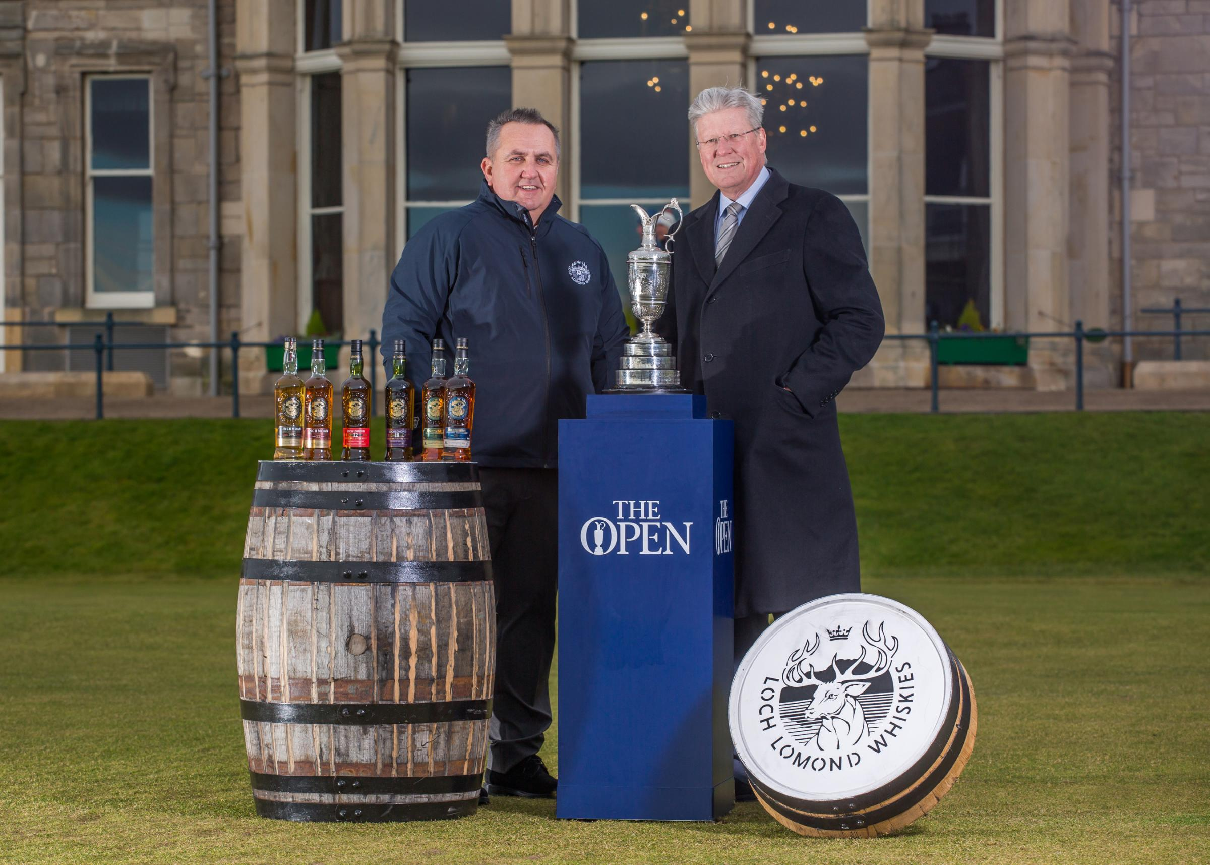 Loch Lomond chief executive Colin Matthews, left, with R&A chief executive Martin Slumbers.