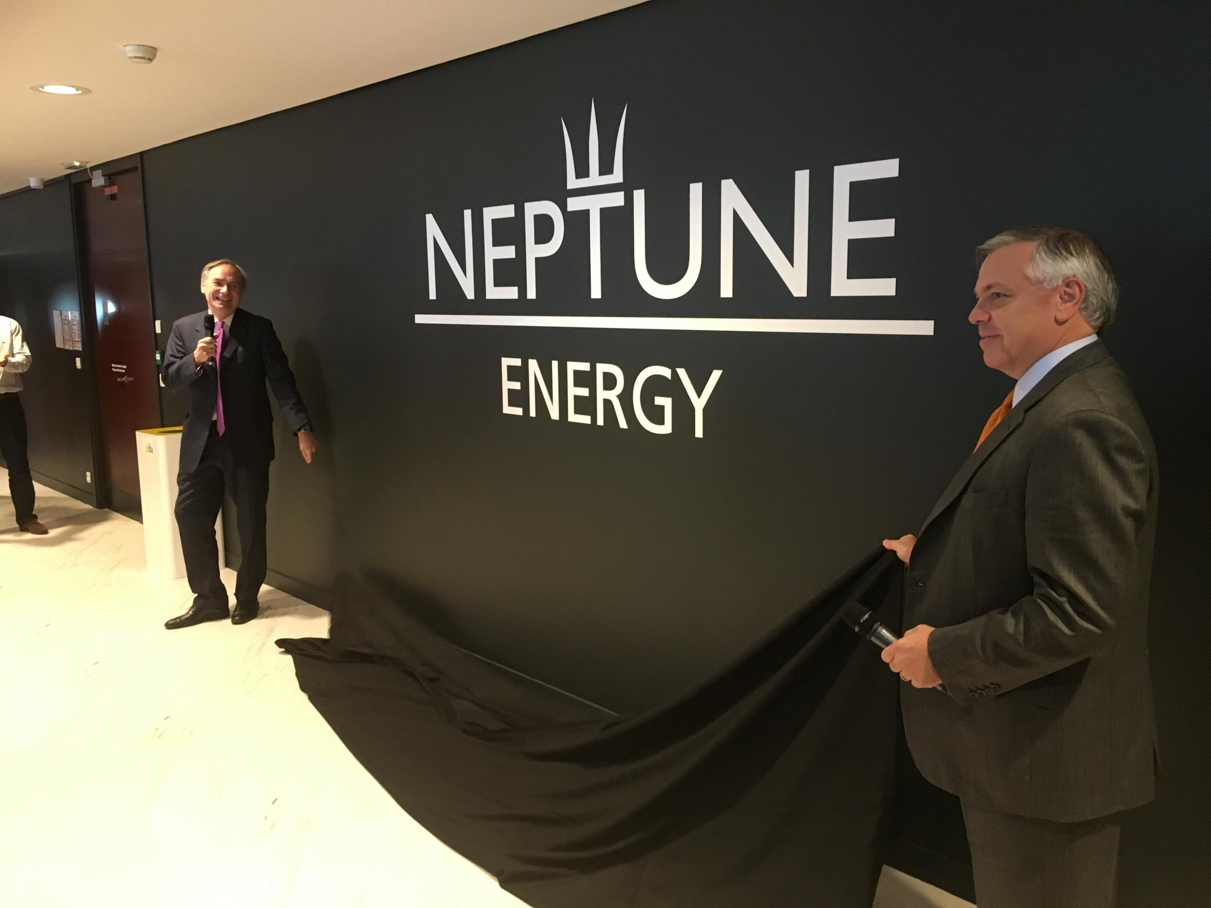 Neptune Energy executive chairman Sam Laidlaw, left, with chief executive Jim House.