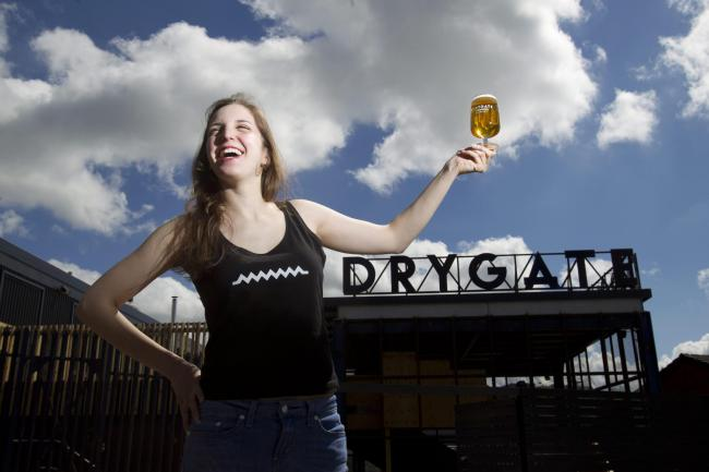 Pictured Brewer /Alessandra Confessore age 24 from Italy.  Drygate the new craft brewery in the East End of Glasgow , is capable of brewing one million pints a year the new interactive space with restaurant, bar, terrace, beer hall and venue is open to th